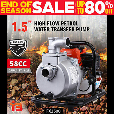 "New 1.5"" Petrol High Pressure Water Transfer Pump Fire Fighting Irrigation"