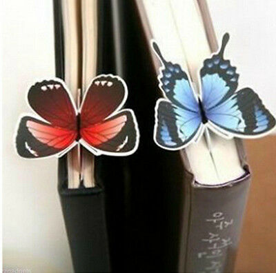 4X Creative Butterfly Bookmarks Cartoon Book Marks Paper Clip Office School Gift