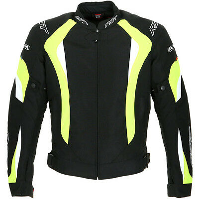 RST R-16 Motorcycle Motorbike Waterproof Textile Sports Jacket - Flo Yellow