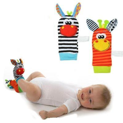 1 x Baby Foot Sock Rattle - Infant Soft Developmental Toy - Choose Your Style