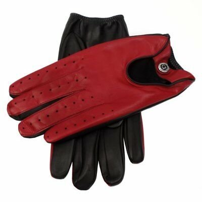 Dents Woburn Leather Driving Gloves Contrast Black/Fireball Heritage Collection