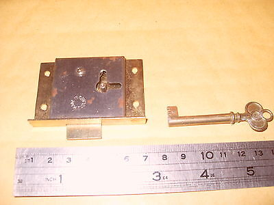 English Made Cabinet Type Lock & Key - As Photo.