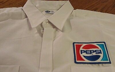 Vintage PEPSI COLA Work Uniform Long Sleeve Shirt Size XL 17 1/2 New Old Stock