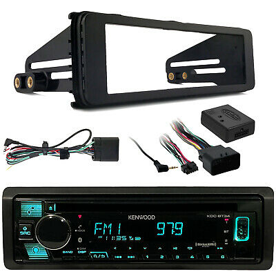 Harley Touring 98-2013 Dash Install Kit, JVC KDR99MBS AUX Bluetooth CD Receiver