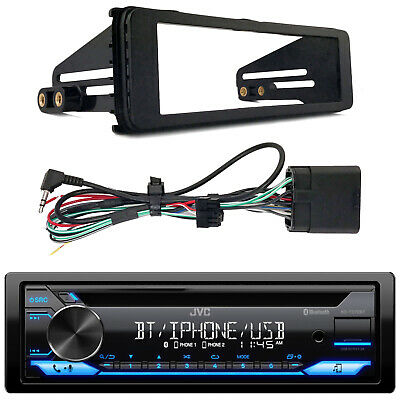 Kenwood Marine Bluetooth Radio, Harley Single-DIN Stereo Install Kit