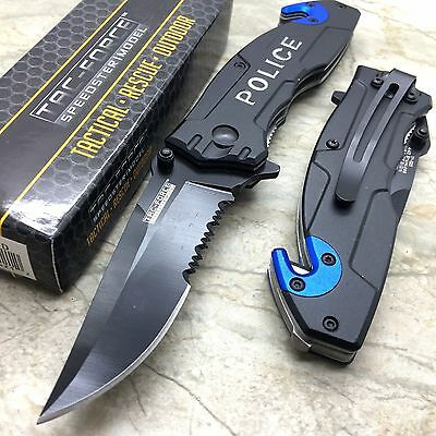 Tac Force Open Assisted Police Cop Rescue Folder Tactical Handy Pocket Knife New