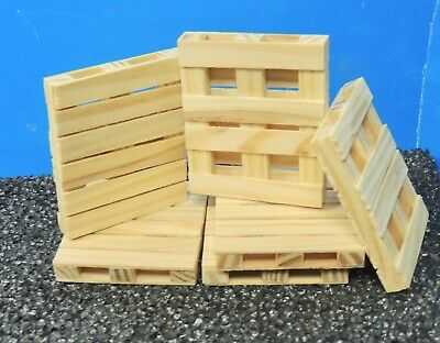 Wooden Pallets (Eight) 1:24 (G) Scale  Ready For Display!