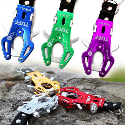 Camping Hiking Metal Portable Key Ring Keychain Carabiner Clip FREE Torch