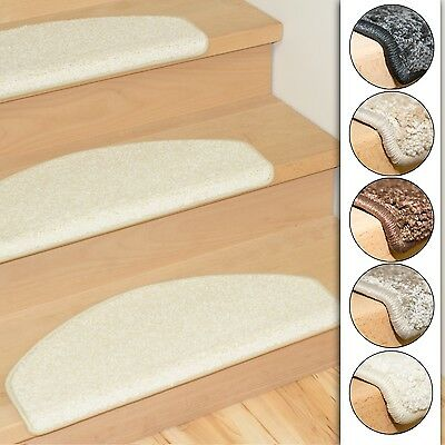 Set of 15 stair mats shaggy 5 colors