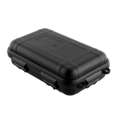 Black Outdoor Plastic Waterproof Airtight Survival Storage Box Case KIT/TIN