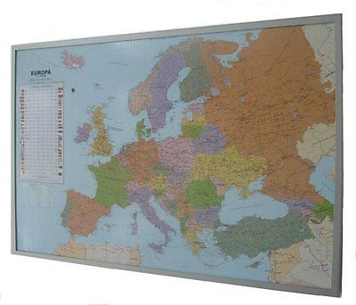 Political Map Of Europe as Pin board on Cork GERMAN #199063