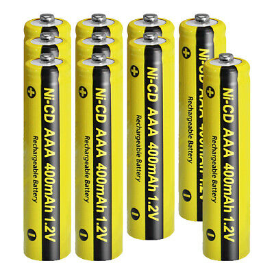 10 packs AAA Nicd Rechargeable Battery 400mAh 1.2V for Lights Lawn Lamp