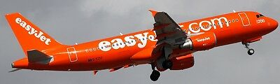 Airbus A-319 Easyjet Airliner A319 Aircraft Wood Model BIG Free Shipping New