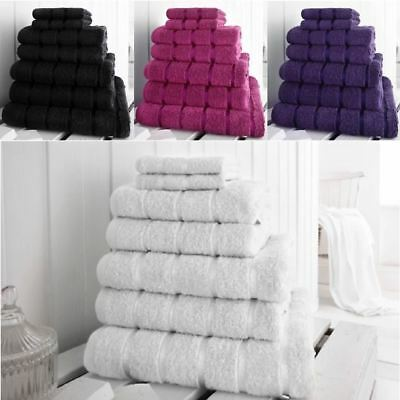 Luxury 7 Pc Thick Soft Egyptian Cotton Hand Face Cloth Bath Towel Sheet Bale Set