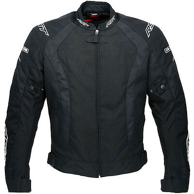 RST R-16 Motorcycle Motorbike Waterproof Textile Sports Jacket - Black