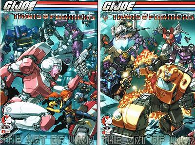 First 2 issues of G.I. Joe vs Transformers - The Art of War - DDP (NM) (1215)