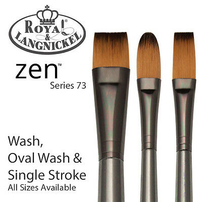 Royal & Langnickel Zen All Media Paint Brush S73 - Single Stroke, Wash & Oval