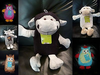 Cute animal hot water bottle with cover super soft OWL ELEPHANT SHEEP MONKEY