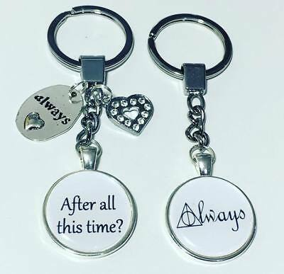 "Harry Potter keyrings ""After all this time?"" and ""Always"" set  keyring FREE P&P"
