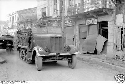 German Army Soldiers Half track Greece 1941  World War 2 Reprint Photo 6x4 Inch