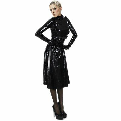 Latex Gummi Rubber Rueschen Mantel Coat Gouvernante