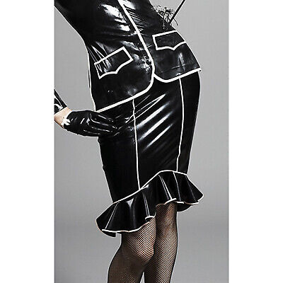 Latex Rubber Gummi Reiter Rock Skirt Kontur PREMIUM