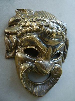 Vintage Devil Bronze Mask 6 1/2 X 6 Inches Aprox