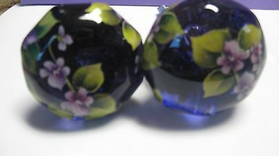 Antique Door Knobs -New-- Proven 20 Year Top Coat -Purple Violets