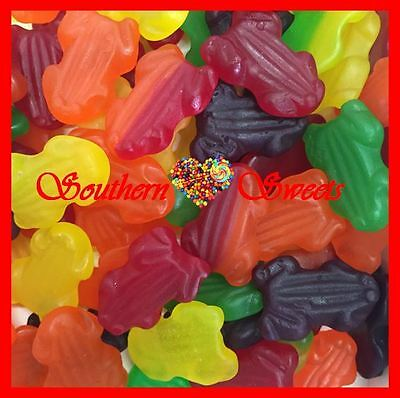 FRUITY FROGS COLOURFUL LOLLIES SOFT GUMMIES Candy Buffet 1KG MADE IN AUSTRALIA