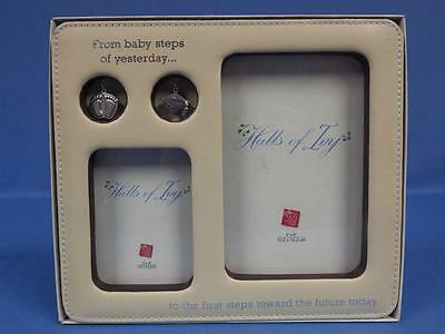 NIB Russ From Baby Steps to First Steps Toward Future Picture Frame and Charms