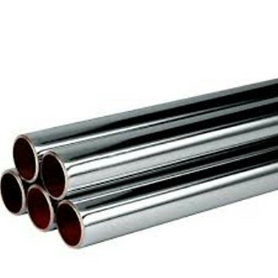 CHEAP 15mm & 22mm CHROME PIPE TUBE VARIOUS LENGTHS AVAILABLE *BRAND NEW*