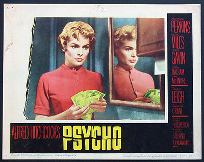 Psycho Hitchcock Horror Janet Leigh With Money 1960 Lobby Card #5