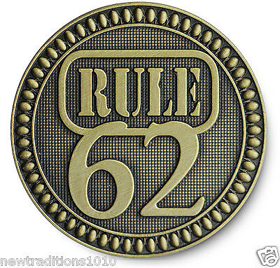 "Antiqued Bronze '""RULE 62"" AA/NA/12 Step Recovery Program Coin /Token/Chip"