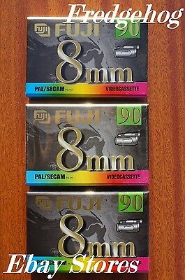 FUJI P5-90 DS - 8MM / VIDEO 8 / Hi8 QUALITY CAMCORDER TAPES/ CASSETTES - PK OF 3