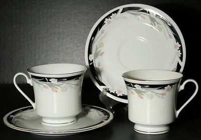 2 Tienshan Michelle Cup and Saucer Sets