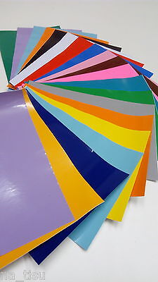 20 sheets SELF ADHESIVE VINYL FOIL kids craft stickers 300x210cm DIY HOME DECOR