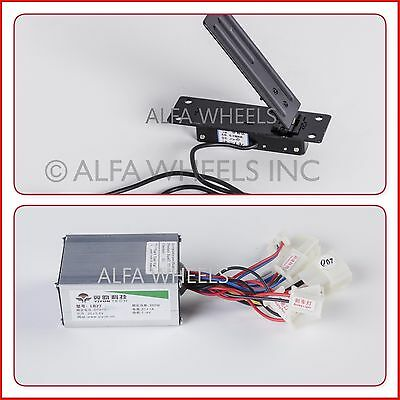 500W 24V KIT speed controller & Foot-Pedal Throttle f electric motor
