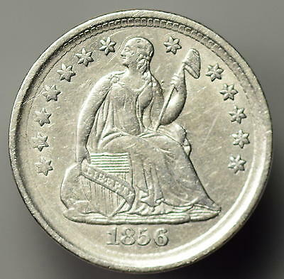 1856 Seated Half Dime Almost Uncirculated