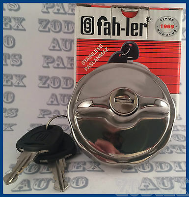 Classic Mini Locking POLISHED Stainless Steel Fuel Cap