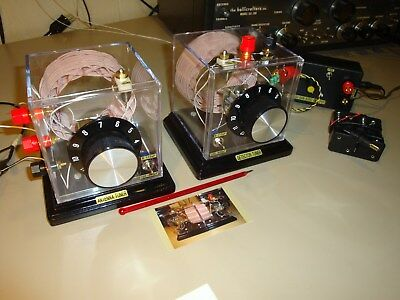 Two Piece Loose Coupler, DX Crystal Radio & High Gain Audio Amplifier!