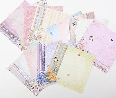 12 Floral Butterfly Lace Scrapbooking Card making Paper 6 X 6 CRAFTMUM
