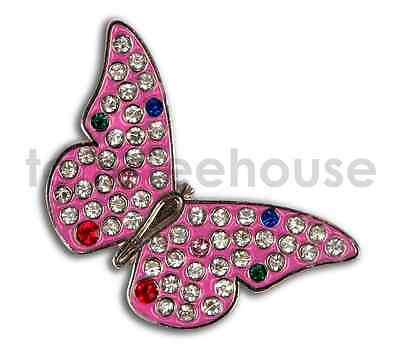 2 x LADIES BUTTERFLY METAL GOLF BALL MARKER