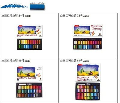 Mungyo Soft Pastel 24 32 48 64 Vivid Colors Half Size For Artists Students