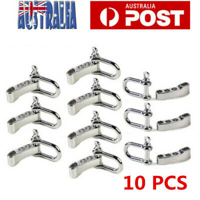 10X Paracord Bracelet Buckle Stainless Steel U shape Anchor Shackle Rope Buckle