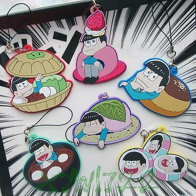SIX SAME FACES Konya wa Saikou Mr.Osomatsu San New Rubber Keychain Pendant Gift