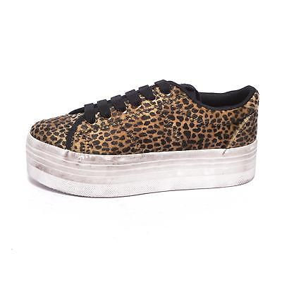 JEFFREY CAMPBELL scarpe JC PLAY ZOMG PONY LEOPARD BROWN BLACK White shoes