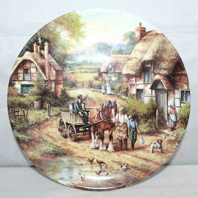 "Wedgwood - Early Morning Milk - Country Days Series - 8"" Collectors Plate - VGC"