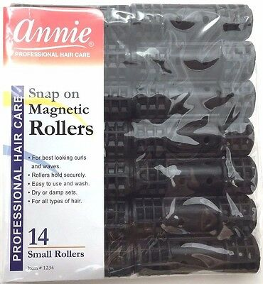 """BRAND NEW ANNIE #1234 14ct SMALL SNAP ON MAGNETIC ROLLERS 1/2"""" DIAMETER"""