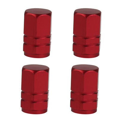 4 x Universal Alloy Car Valve Tyre Wheel Stem Tire Air Dust Covers Caps Red