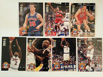 Lot 7 Cartes De Basket Nba Upper Deck 1994 - Tip Offs